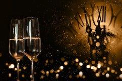 Hora para la enhorabuena del Año Nuevo Imagen de archivo