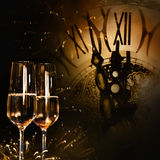 Hora para la enhorabuena del Año Nuevo Foto de archivo