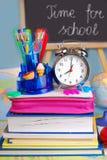 Hora para la escuela Imágenes de archivo libres de regalías