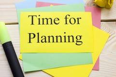 Hora para la inscripción de planificación Imagenes de archivo