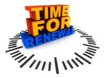 Hora para la renovación Fotografía de archivo
