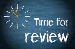 Hora para las palabras y el reloj del comentario Imagen de archivo libre de regalías