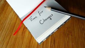 Hora para los cambios Foto de archivo libre de regalías