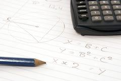 Hora para a matemática Fotografia de Stock