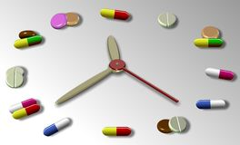 Hora para a medicamentação ilustração royalty free