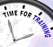 Hora para a mensagem de formação que mostra o treinamento e a instrução Imagem de Stock