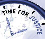 A hora para a mensagem de justiça mostra a lei e a punição Imagens de Stock Royalty Free