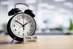 Hora para a mudança imagens de stock