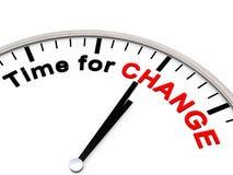 Hora para a mudança Fotografia de Stock Royalty Free