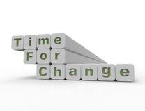 Hora para a mudança Foto de Stock