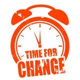 Hora para a mudança Fotos de Stock