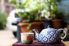 Hora para o chá Fotos de Stock