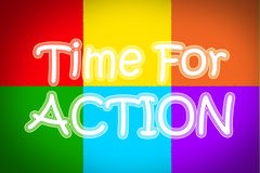 Hora para o conceito da ação Imagem de Stock Royalty Free