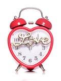 Hora para o despertador do amor imagem de stock