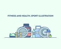Hora para o esporte e o estilo de vida saudável Vetor Imagem de Stock