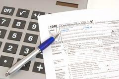 Hora para o imposto Imagem de Stock