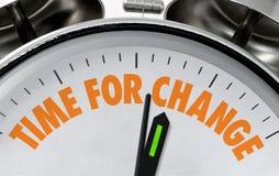 Hora para o mostrador de relógio da mudança Imagens de Stock Royalty Free