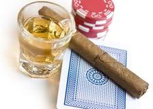 Hora para o póquer Fotografia de Stock Royalty Free