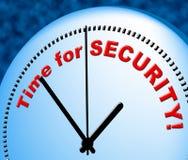 A hora para a segurança representa agora e atualmente Fotos de Stock
