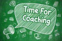 Hora para treinar - ilustração da garatuja no quadro verde ilustração stock