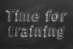 Hora para treinar ilustração do vetor