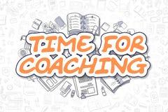 Hora para treinar - texto da laranja dos desenhos animados Conceito do negócio ilustração royalty free