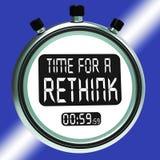 A hora para uma reconsideração significa a estratégia da mudança ilustração do vetor