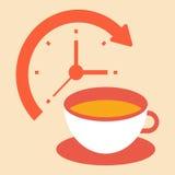 Hora para uma ruptura de café Ilustração Stock