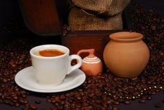 Hora para un coffe - arreglo imagen de archivo