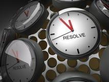 Hora para una resolución Fotografía de archivo
