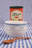 Hora para una taza de té imágenes de archivo libres de regalías