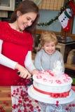 Hora para una torta Imagen de archivo