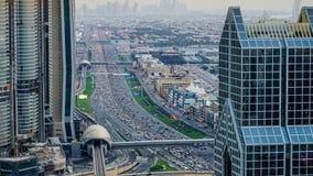 Hora punta de Dubai almacen de metraje de vídeo