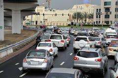 Hora punta en Dubai Imagen de archivo