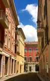 Hora punta en Fiorenzuola Italia Imagen de archivo