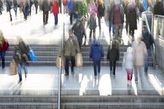 Hora punta en la ciudad Imagen de archivo libre de regalías