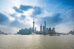 Hora punta en Shangai Foto de archivo libre de regalías