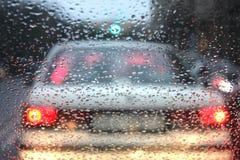 Hora punta en un día lluvioso Imagen de archivo libre de regalías