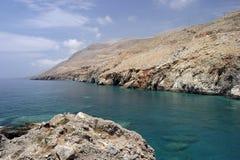 Hora-Sfakia Grecia La isla de Crete fotos de archivo libres de regalías
