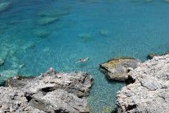 Hora-Sfakia Grecia La isla de Crete fotos de archivo