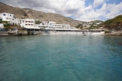 Hora Sfakion village in Crete. Greece Royalty Free Stock Photography