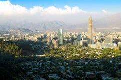 Hora solar del paisaje urbano de Santiago Imágenes de archivo libres de regalías