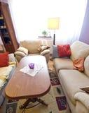Hora solar en sala de estar Fotos de archivo libres de regalías