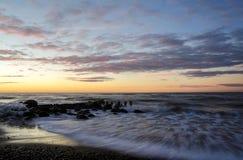 Hora ventosa de la puesta del sol Fotografía de archivo