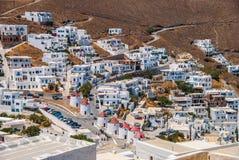 Hora von Astypalea-Insel in Griechenland stockbild