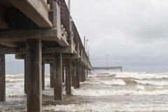 Horace Caldwell Pier no porto Aransas Texas imagem de stock