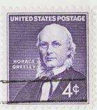 Horace Greeley 1960 stempla pocztowego roczne Fotografia Royalty Free