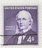 Horace Greeley Vintage 1960 Postage Stamp. This is a Horace Greeley Vintage 1960 Canceled US Postage Stamp Royalty Free Stock Photography