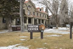 Horace M Albright Visitors Center, Mammoth Hot Springs, Yellowst Royalty Free Stock Image