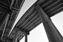 Horace Wilkinson Bridge curve and supports in Baton Rouge, Louisiana Stock Image